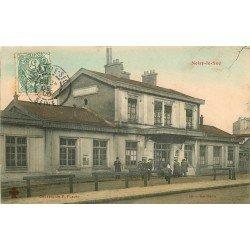 93 NOISY LE SEC. La Gare bien animée 1906. Collection Fleury en couleur