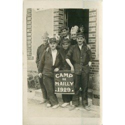 10 CAMP DE MAILLY. Photo carte postale de Militaires 1929