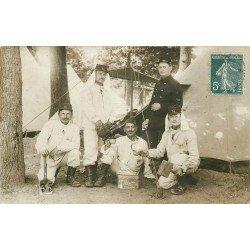78 MAISONS LAFFITTE. Rare Militaires du 76 ème Régiment 1911. Superbe Photo Carte Postale 11ème Compagnie Escouade