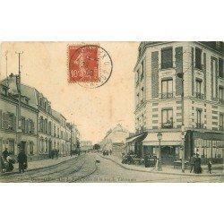 93 BAGNOLET. Café Rue de Paris prise de la Rue de Vincennes 1908