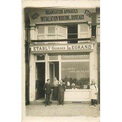 69 LYON. Etablissements Legrand 39 Avenue Jean Jaurès. Rare Photo Carte Postale vers 1910