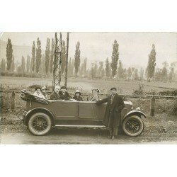 TRANSPORTS. Superbe voiture pour groupe. Photo carte postale