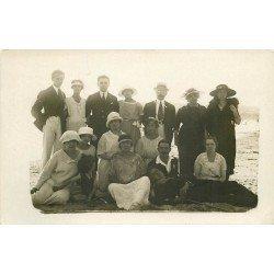 76 LE TREPORT. Groupe de vacanciers à la Plage. Photo carte postale