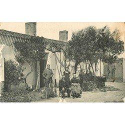 93 LE PRE SAINT GERVAIS. Carte postale privée d'une Famille dans le Jardin. Ecrite par Denise pour sa Mère en 1927