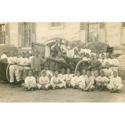 27 VERNON. Militaires en Manoeuvre 1920 Artillerie du Peleton n°1. Rare photo carte postale
