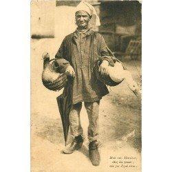 Folklores et Légendes. Au Marché le vendeur de Canards et Oies 1934 par Goubey