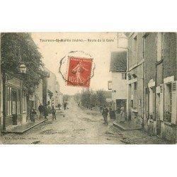 36 TOURNON SAINT MARTIN. La Poste et Café Route de la Gare 1908
