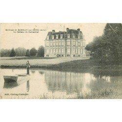 10 ROMILLY SUR SEINE. Le Château de Barbenthal et le Passeur en Barge 1920