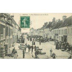 78 HOUDAN. Jour de Marché sur la Rue d'Epernon 1908