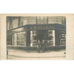 75 PARIS XVI° Superbe Photo Carte Postale Confiserie Pâtisserie Nolleau 79 rue de la Tour et rue Desbordes Valmore
