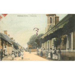 72 LHOMME. Grande Rue bien animée en couleur 1909