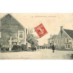 72 SAINT VICTEUR. Café et Cordonnier Rue Principale 1909