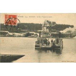 29 BENODET. Le Bac à Vapeur en marche 1915