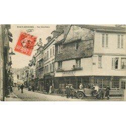 27 PONT AUDEMER. Voiture ancienne devant la Menuiserie Rue Gambetta 1927