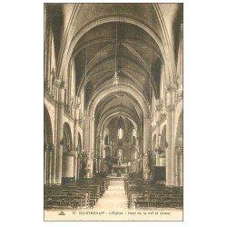 carte postale ancienne 14 OUISTREHAM. Eglise Nef et Choeur 12