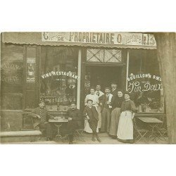 93 LE PRE SAINT GERVAIS. Café Restaurant Rochut 3 Place de la Mairie vers 1911
