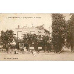 93 PIERREFITTE. Café Tabac Hôtel Boulevard de la Station 1912