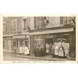 91 ESSONNES. Café Tazbac Chaumette Rue de Paris et Crèmerie