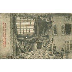 54 SAINT PIERREMONT. Intérieur d'une Maison bombardée Guerre 1914-1918