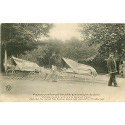 TRANSPORTS MILITAIRES. Voiturettes porte brancard démontables pour Blessés par Puisais 1910