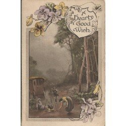 ANGLETERRE ENGLAND. Carte petit livret a Hearty good Wish