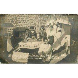19 MEYNAC. Cavalcade de 1913. Char patriotique pour nos Soldats du Maroc. Photo carte postale ancienne