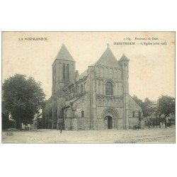 carte postale ancienne 14 OUISTREHAM. L'Eglise. Ecrite par le Lieutenant Baudoin vers 1913