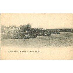 93 ILE SAINT DENIS. Quai de la Marine et Port vers 1900
