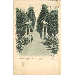 FIRENZE. Giardino di Boboli Viale de Cipressi 1901