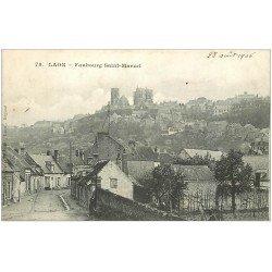 carte postale ancienne 02 LAON. Faubourg Saint-marcel 1906