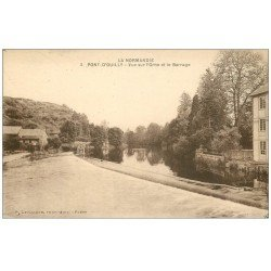 carte postale ancienne 14 PONT-D'OUILLY. Barrage n°5