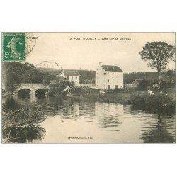 carte postale ancienne 14 PONT-D'OUILLY. Le Pont sur le Noireau