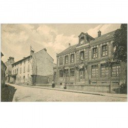 carte postale ancienne 95 ANDILLY. La Mairie animation
