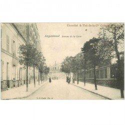 carte postale ancienne 95 ARGENTEUIL. Avenue de la Gare. Chocolat Thé Coloniale