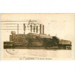 carte postale ancienne 95 ARGENTEUIL. Usine le Secteur électrique 1949