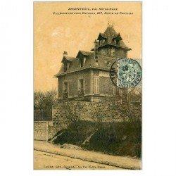 carte postale ancienne 95 ARGENTEUIL. Villégiature pour Enfants aux fenêtres 1907 papier glacé