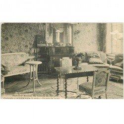 carte postale ancienne 95 AVERNES. Orphelinat des Chemins de Fer. Salon de la Colonie. qq blancs...