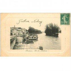 carte postale ancienne 95 PONTOISE. Bateau Lavoir Ile du Pothuis