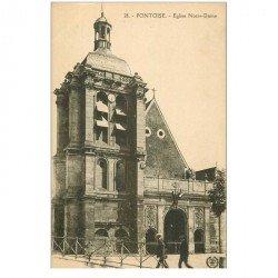 carte postale ancienne 95 PONTOISE. Eglise Notre Dame