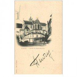 carte postale ancienne 95 PONTOISE. Eglise Saint Maclou Abside 1902