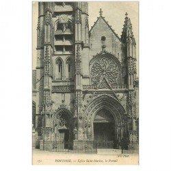 carte postale ancienne 95 PONTOISE. Eglise Saint Maclou le Portail 171