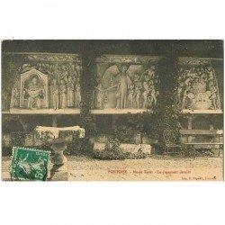 carte postale ancienne 95 PONTOISE. Le Musée Thavet le Jugement dernier 1912