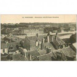 carte postale ancienne 95 PONTOISE. Panorama vers Saint Ouen l'Aumône