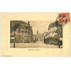 carte postale ancienne 95 PONTOISE. Pharmacie rue Thiers 1911