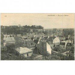 carte postale ancienne 95 PONTOISE. Vue sur le Château et les Toits