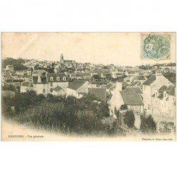 carte postale ancienne 95 PONTOISE. Vue sur les Toits de la ville 1905