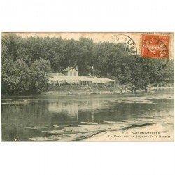carte postale ancienne 94 CHATENTONNEAU. Restaurant Buvette vers la Baignade de Saint Maurice 1916