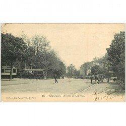 carte postale ancienne 94 CHARENTON LE PONT. Tramways Avenue de Gravelle 1905 Ecrite au comédien Ameline