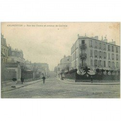 carte postale ancienne 94 CHARENTON LE PONT. Rue des Ecoles et avenue de Gravelle
