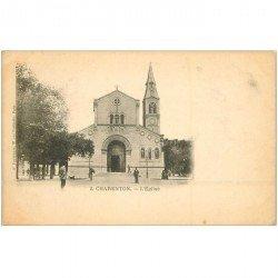carte postale ancienne 94 CHARENTON LE PONT. L'Eglise vers 1900. Edition Pouydebat